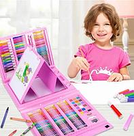"""Набор для детского творчества в чемодане из 208 предметов """"Чемодан творчества"""" Розовое"""