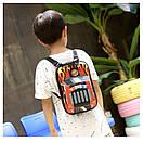 Детский рюкзак для мальчика от 2 лет для садика жесткий 3D Тачки автомобиль, фото 3