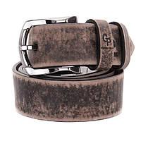 Ремень мужской кожаный Grande Pelle коричневый винтаж в джинсы 120 см (412508800)
