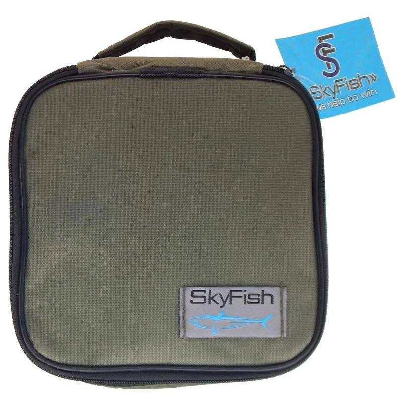 Чохол для рибальської котушки SkyFish 18х18х10 см під котушку на блискавку з підкладкою з нейлону