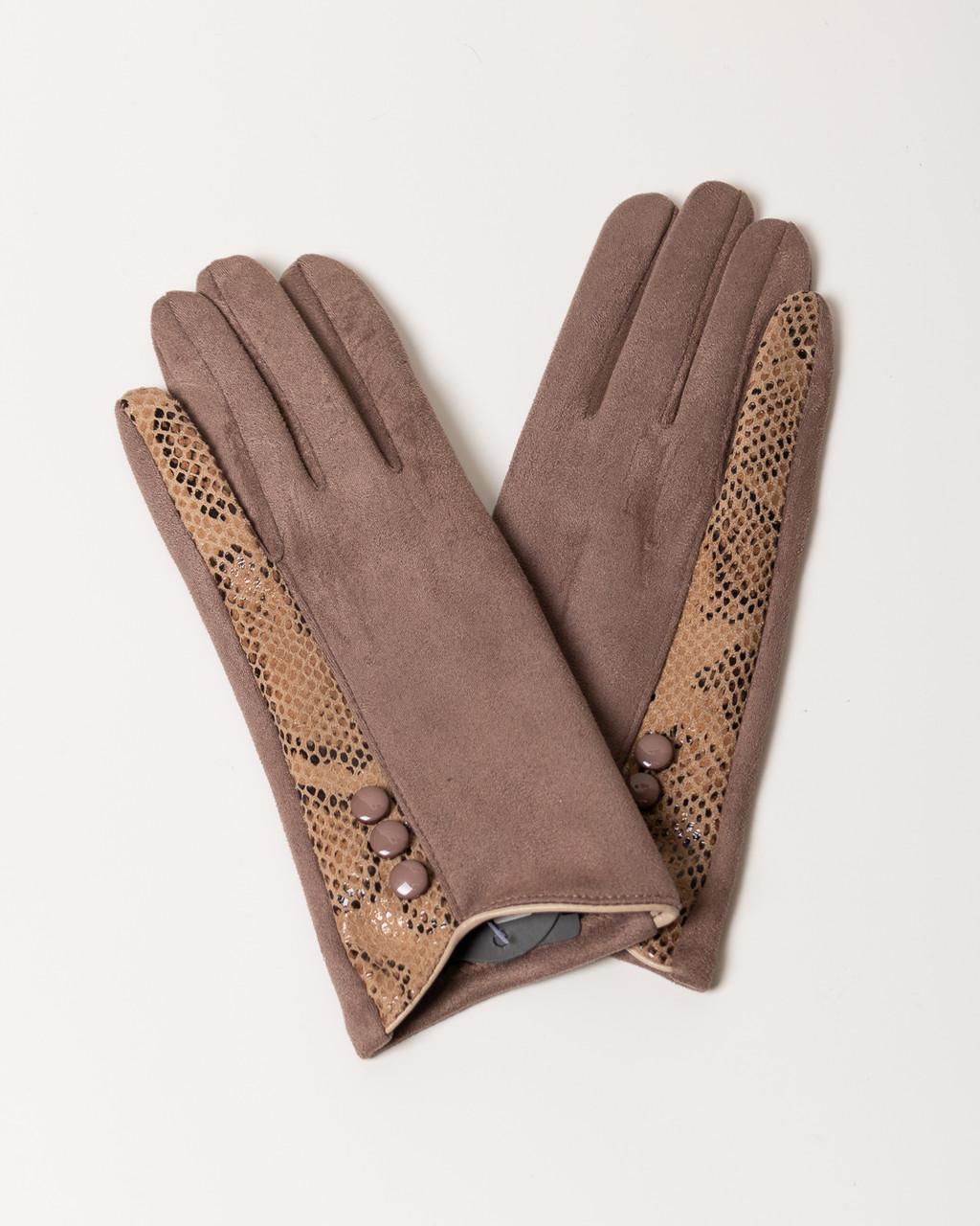Перчатки женские MM SWEET G1552 TAUPE ZMEJKA TOUCH SCREEN