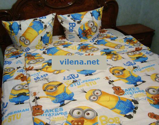 Детское полуторное постельное белье Миньоны, фото 2