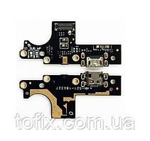Шлейф - плата зарядки для Nokia 3 (TA-1032, TA-1020), коннектора зарядки с микрофоном, оригинал