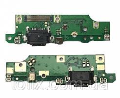 Шлейф - плата зарядки для Nokia 6.1 Dual Sim (TA-1043, TA-1050), коннектора зарядки с микрофоном, оригинал