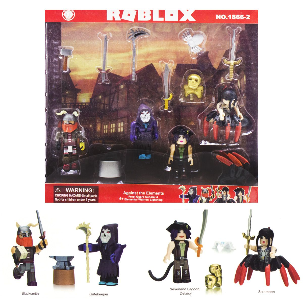 Набір фігурки Роблокс 4 в1 іграшки Roblox з аксесуарами