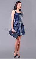 Женское платье из кож-зама  Poliit 8049, фото 1