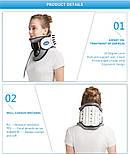Медицинский надувной шейный тяговый воротник для снятия боли в шее, фото 2