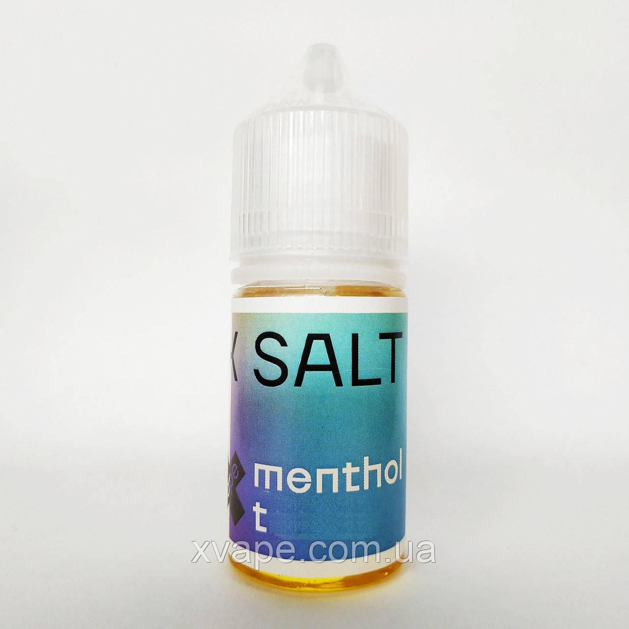 """Топовые жидкости для POD систем """"X SALT"""" MENTHOL T 30 ml"""