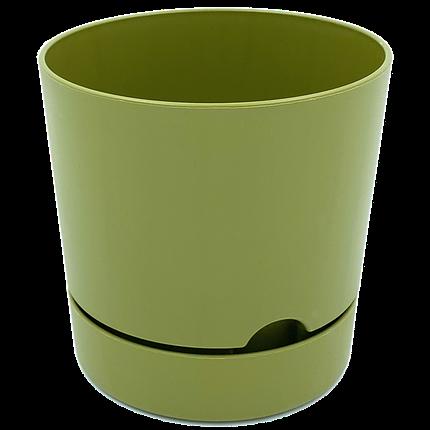 Горшок для цветов Begonya 1 л зеленый, фото 2
