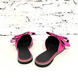 Мюли с закрытым носком и бантами, цвет бирюза, фото 10