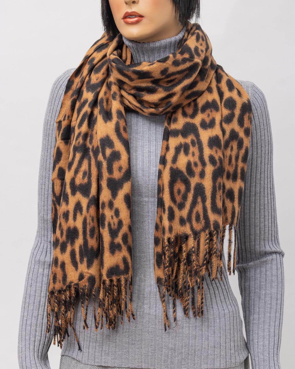 Шарф - платок женский SHARF S191-335 CAMEL TIGR
