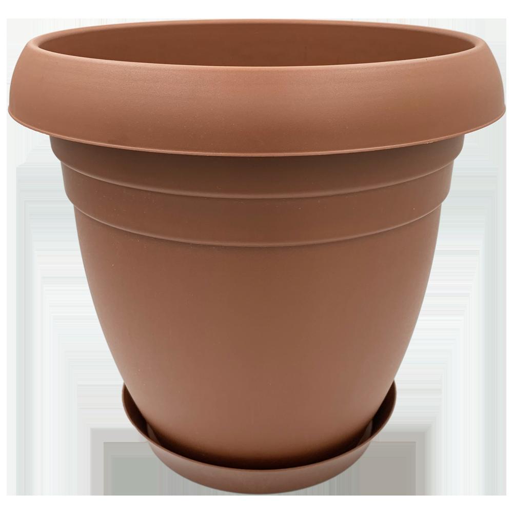 Горшок для цветов Nergiz 15,5 л коричневый