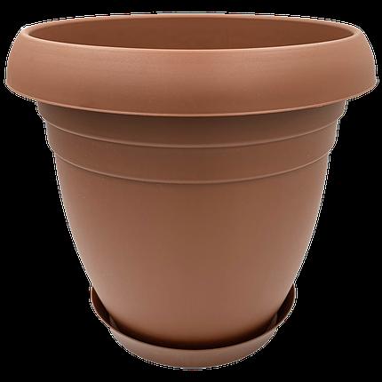 Горшок для цветов Nergiz 15,5 л коричневый, фото 2