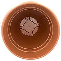 Горшок для цветов Nergiz 15,5 л коричневый, фото 3