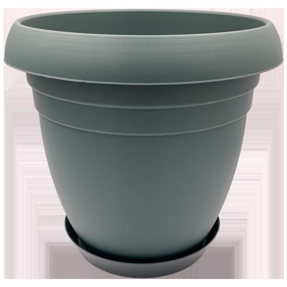 Горшок для цветов Nergiz 15,5 л тёмно-зеленый