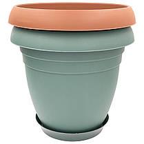 Горшок для цветов Nergiz 15,5 л тёмно-зеленый, фото 3