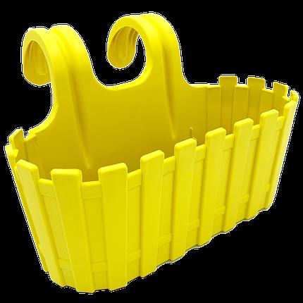 Горшок для цветов балконный подвесной Akasya 3,5 л жёлтый, фото 2
