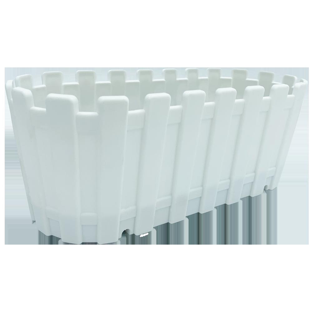 Горшок для цветов балконный Akasya 5,5 л белый