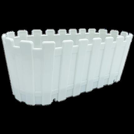 Горшок для цветов балконный Akasya 5,5 л белый, фото 2