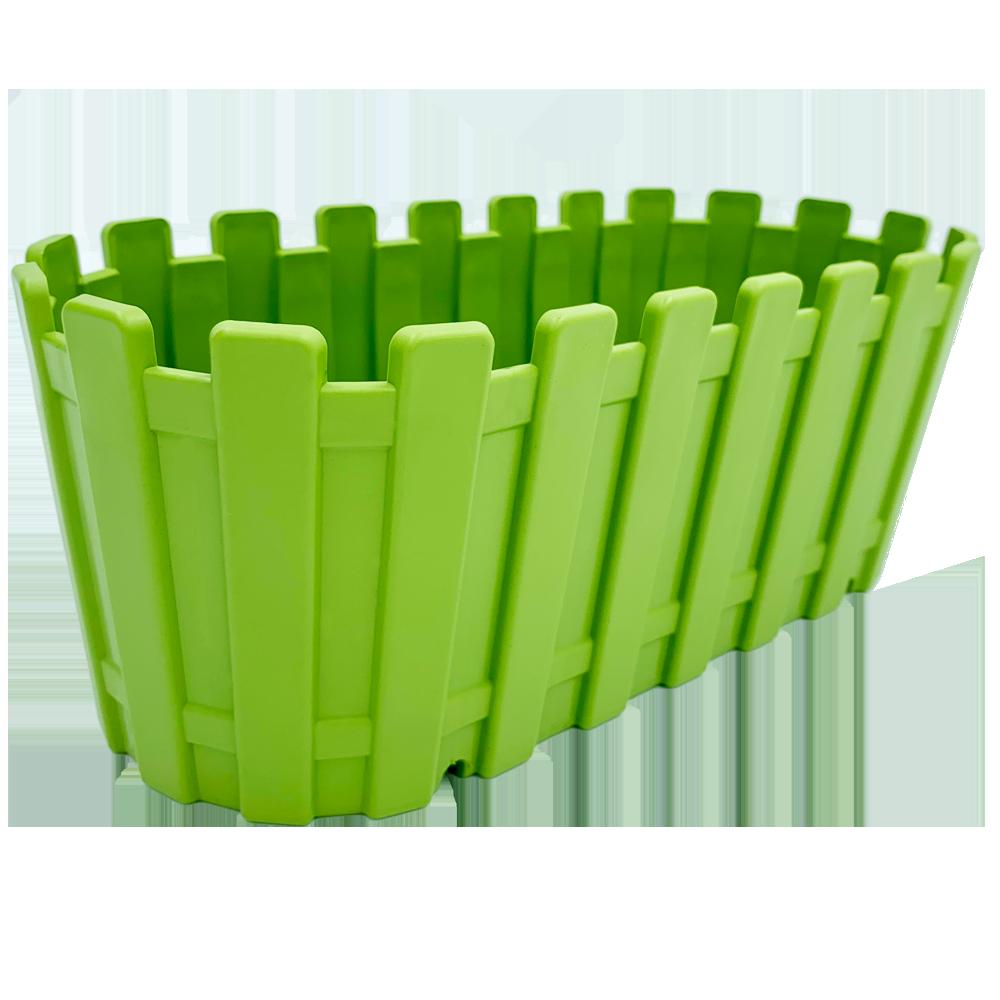 Горшок для цветов балконный Akasya 5,5 л зеленый