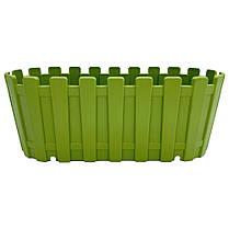 Горшок для цветов балконный Akasya 5,5 л зеленый, фото 2