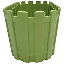 Горшок для цветов балконный Akasya 5,5 л зеленый, фото 3