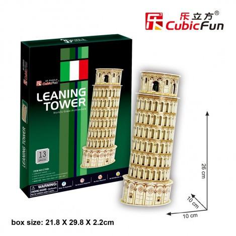 Трехмерная головоломка-конструктор серия мини cubicfun пизанская башня (S3008h)