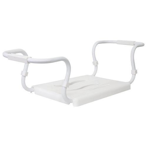 (KV03-01) Сиденье на ванну белое, метел. каркас