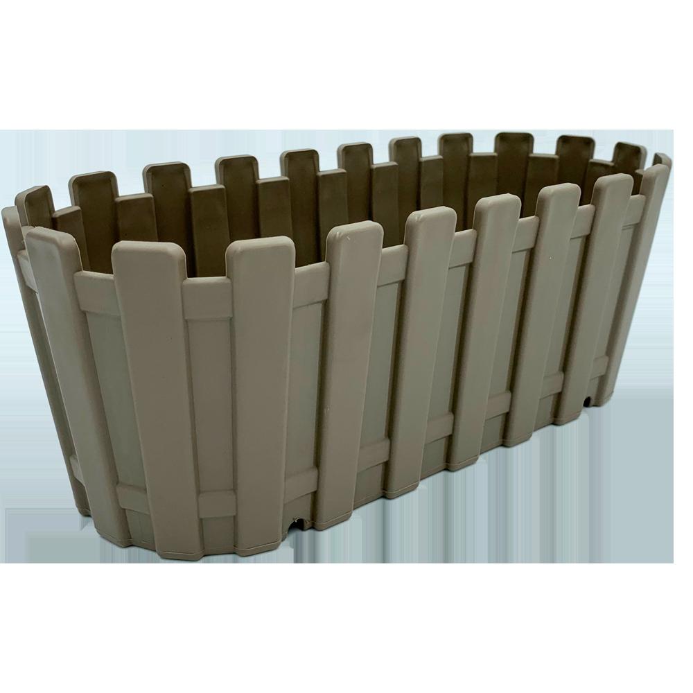 Горшок для цветов балконный Akasya 5,5 л серо-коричневый