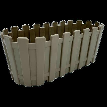 Горшок для цветов балконный Akasya 5,5 л серо-коричневый, фото 2