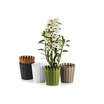 Горшок для орхидеи Akasya 1,1 л серо-коричневый, фото 2