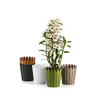 Горшок для орхидеи Akasya 1,1 л коричневый, фото 2