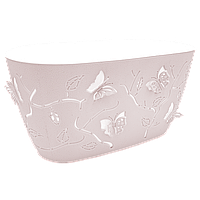 Горшок для цветов балконный 3D 4,1 л розовый