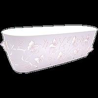 Горшок для цветов балконный 3D 7,3 л розовый