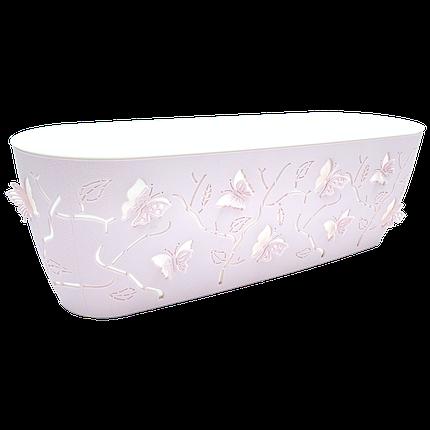 Горшок для цветов балконный 3D 7,3 л розовый, фото 2