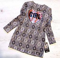 Р.128-152  Детское платье c живыми паетками Girl, фото 1