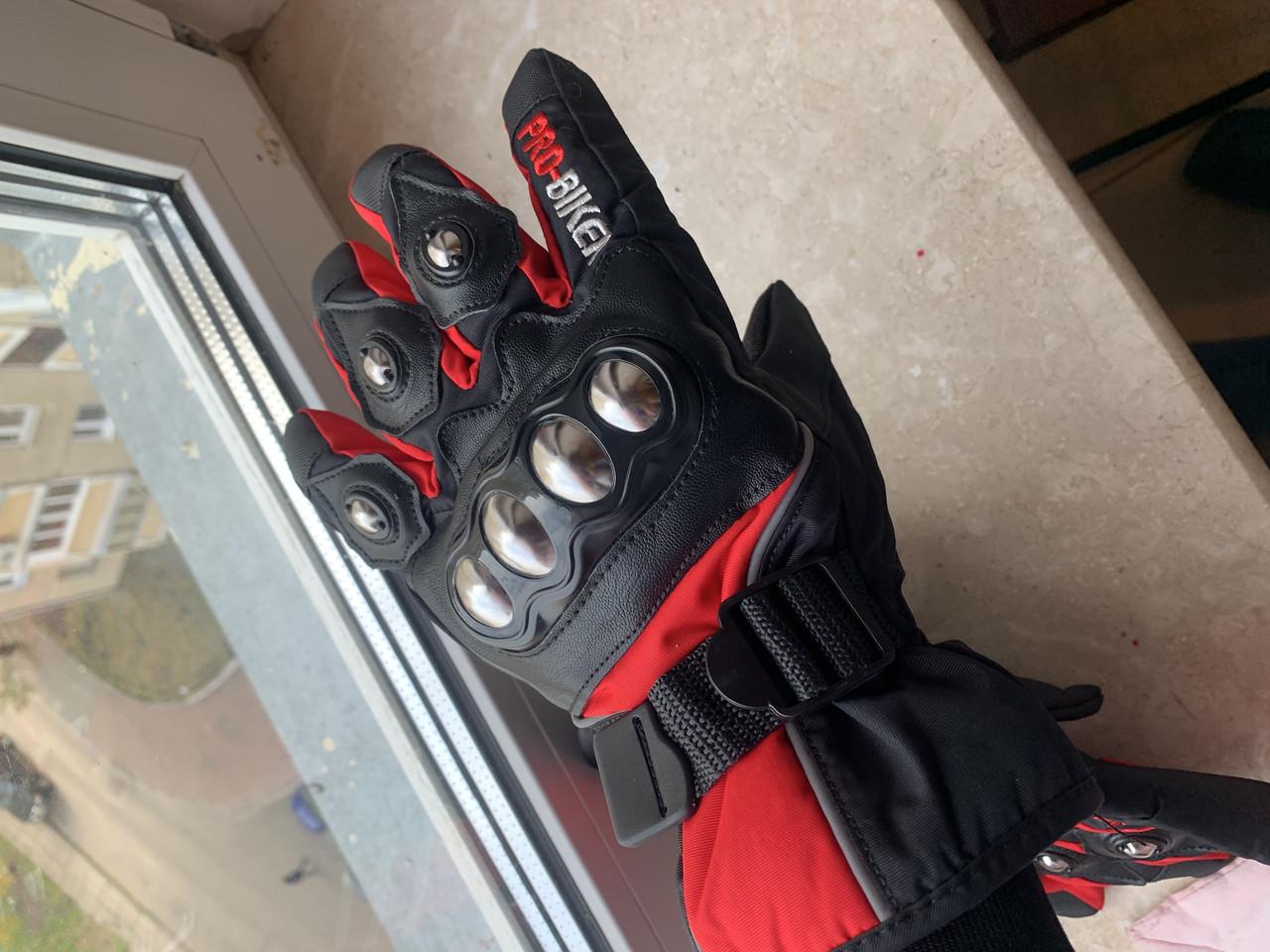 Зимние утеплённые защитные мото Перчатки Probiker