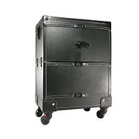 Сумка-чемодан визажиста и мастера маникюра black Чемодан для косметики Чемодан для мастера маникюр