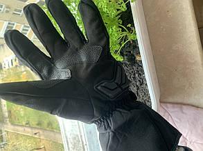 Зимние защитные утеплённые мото Перчатки madbike Черные, фото 2