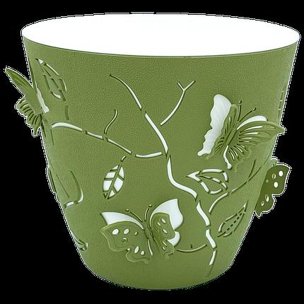 Горшок для цветов 3D 0,7 л тёмно-зелёный, фото 2