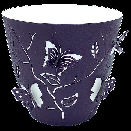 Горшок для цветов 3D 0,7 л тёмно-фиолетовый, фото 2