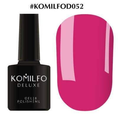 Гель-лак Komilfo Deluxe Series №D052 насыщенный ярко-розовый эмаль 8 мл, фото 2