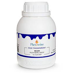 Фотополімерна смола Plexiwire Resin Basic 0.5 кг Blue Transparent