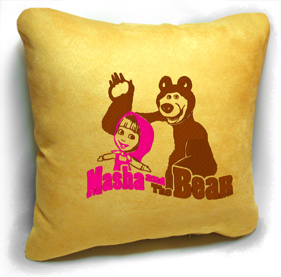 "Детская подушка № 08 ""Маша и Медведь"""