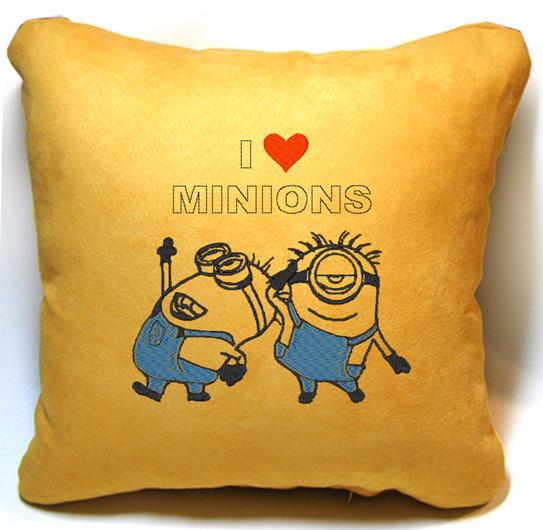 """Детская подушка № 10 """"I love Minions"""""""