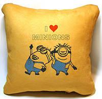 """Детская подушка № 10 """"I love Minions"""" , фото 1"""