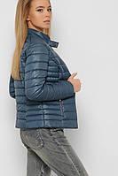Женская стеганая куртка бутылочного цвета LS-8820-18