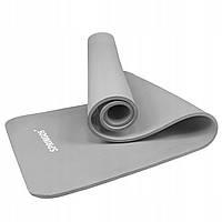 Коврик (мат) для йоги и фитнеса Springos NBR 1.5 см YG0041 Light Grey, фото 1