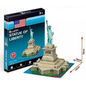 Тривимірна головоломка-конструктор серія міні cubicfun статуя свободи (S3026h)