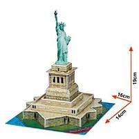 Тривимірна головоломка-конструктор серія міні cubicfun статуя свободи (S3026h), фото 2